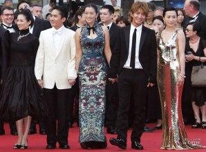 2004 Cannes Zhang Ziyi, Tony Leung, Gong Li, Takuya Kimura and Carina Lau