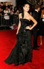Chinese actress Zhang Ziyi poses at Metropolitan Museum of Art Costume Institute Gala in New York