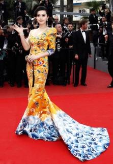 2010 Cannes Fan Bingbing in Laurence Hsu