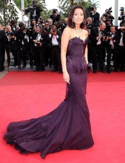 2011 Cannes Gong Li in Roberto Cavalli