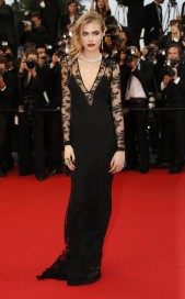 2013 Cannes Cara Delevingne in Burberry