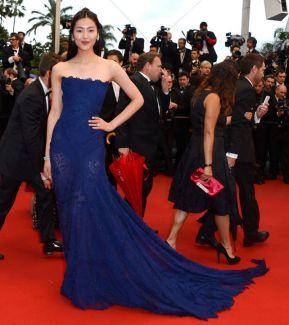 2013 Cannes Liu Wen in Roberto Cavalli