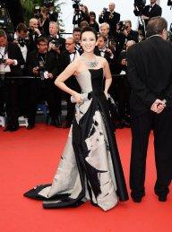 2013 Cannes Zhang Ziyi in Carolina Herrera Fall 2012