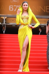 2014 Cannes Irina Shayk in Atelier Versace Spring 2014 Couture
