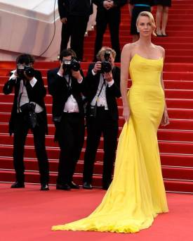 2015 Cannes Charlize Theron in Dior