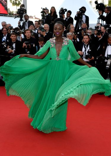 2015 Cannes Lupita Nyong'o in Gucci