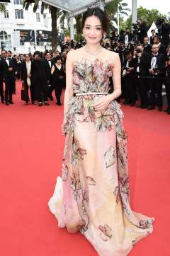 2015 Cannes Shu Qi in Elie Saab Spring 2015 Couture