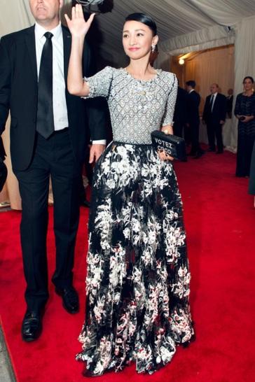 2015 Met Gala Zhou Xiun in CHANEL Fall 2014 Couture
