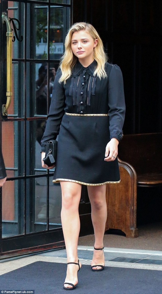 Chloe Moretz in Coach Fall 2016