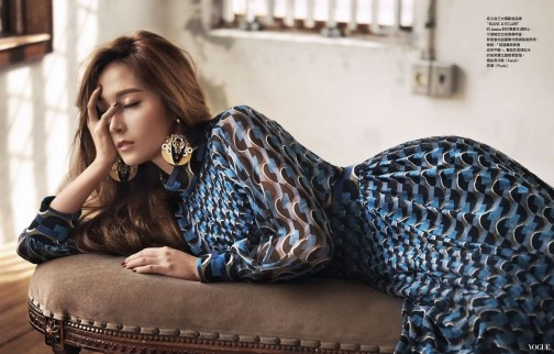 Jessica in Fendi for Vogue Taiwan 2016