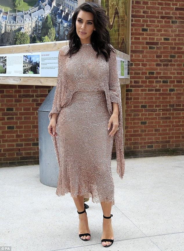 Kim Kardashian in Talbot Runhof Fall 2016
