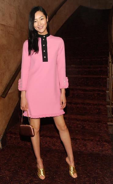 Liu Wen in Gucci Pink Dress