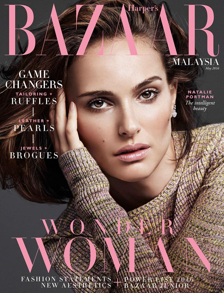 Natalie Portman Harper's BAZAAR Malaysia May 2016 Cover