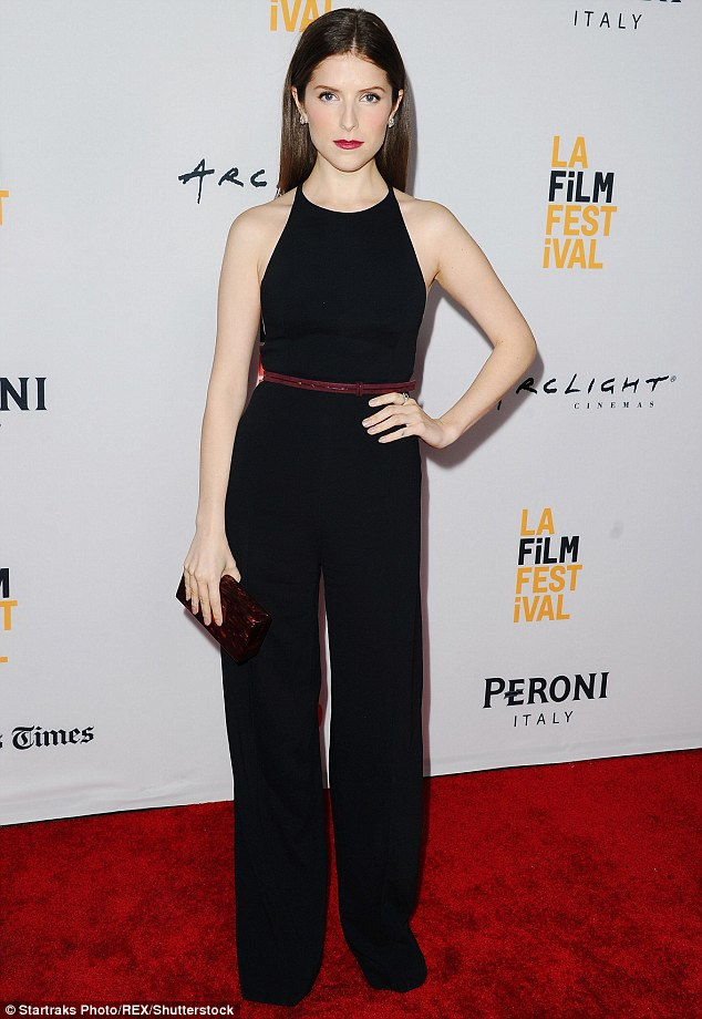 Anna Kendrick in Narciso Rodriguez Pre-Fall 2015 Jumpsuit