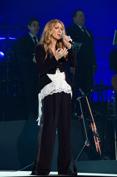 Celine Dion in Givenchy Spring 2016