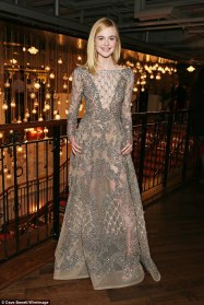 Elle Fanning in Elie Saab Spring 2016 Couture