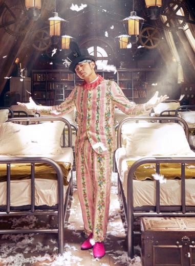 Jay Chou in Gucci Spring 2016 Menswear