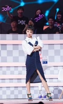 Jolin Tsai in Alice McCall Dress & Sergio Rossi Shoes