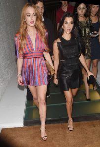Lindsay Lohan in Elisabetta Franchi Fall 2016 -2016.6.10-