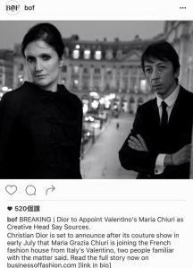 Maria Grazia Chiuri可能擔任Dior最新設計總監 -2016.6.23-