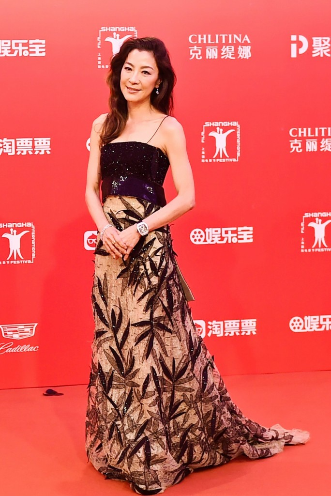 Michelle Yeoh in Armani Prive Spring 2015 Couture