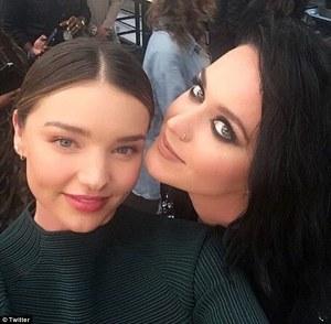 Miranda Kerr and Katy Perry at Moschino Fashion Show -2016.6.11-