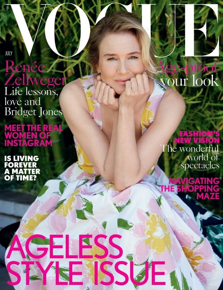 Renee Zellweger Vogue UK July 2016 Cover
