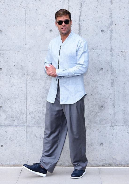 Ricky Martin in Giorgio Armani Spring 2016 Menswear
