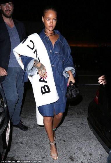 Rihanna in Matthew Dolan Spring 2015 & Balenciaga