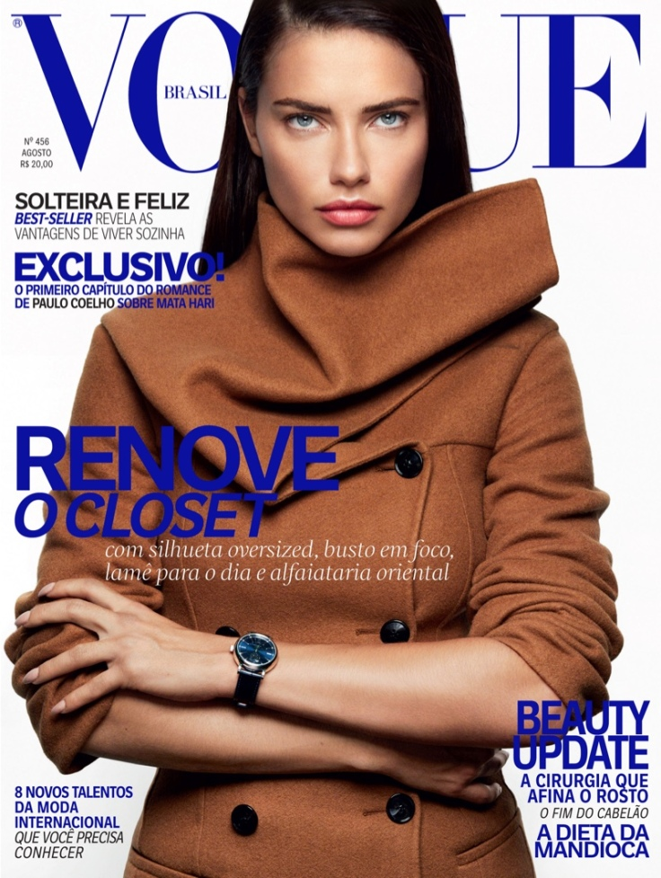 Adriana Lima Vogue Brazil August 2016 Cover