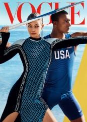 Gigi Hadid & Ashton Eaton Vogue August 2016 Cover