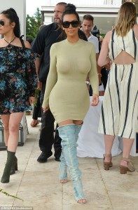 Kim Kardashian in Yeezy Denim Boots -2016.7.16-