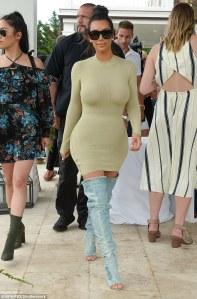 Kim Kardashian in Yeezy Denim Boots -2016.7.16-
