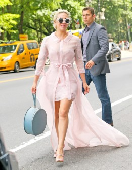 Lady Gaga in Carolina Herrera Spring 2016