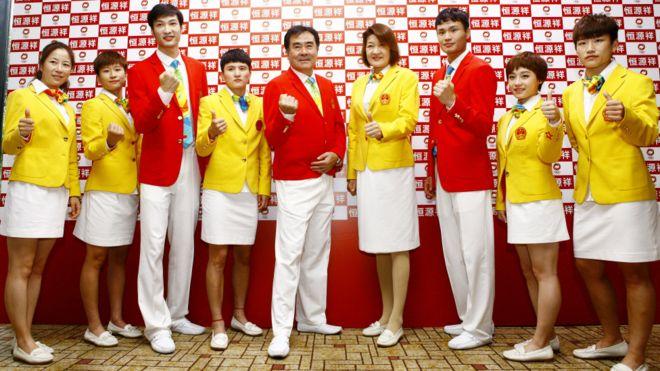 Rio Olympics Uniforms Team China
