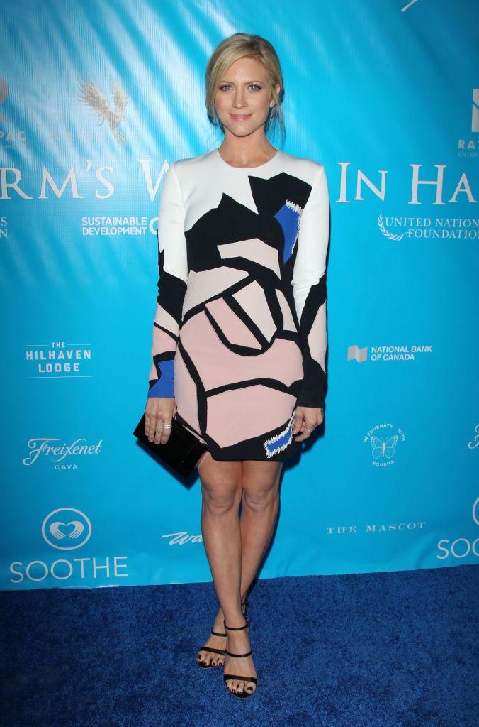 Brittany Snow in Nicolas Jebran Gold Label Fall 2016