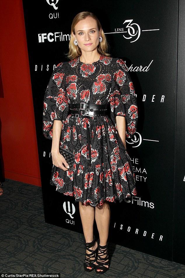 Diane Kruger in Alexander McQueen Resort 2017