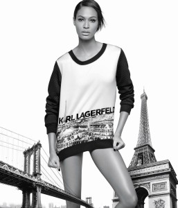 Joan Smalls & Hailey Baldwin X Karl Lagerfeld Fall 2016 Campaign -2016.8.11-