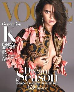 Kendall Jenner X Vogue September 2016 Cover -2016.8.11-