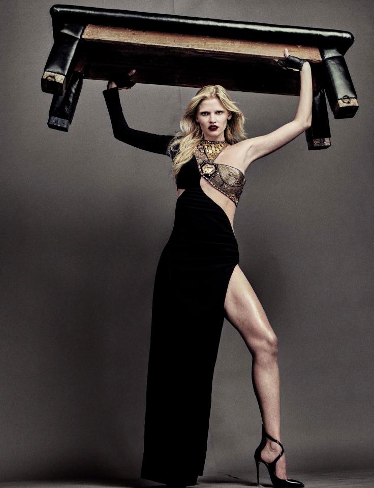 Lara Stone Vogue Italia August 2016