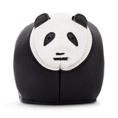 Loewe Panda Coin Purse Black-white-3