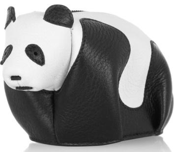 Loewe Panda Coin Purse Black-white-4