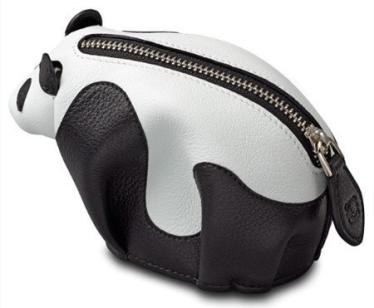 Loewe Panda Coin Purse Black-white-5