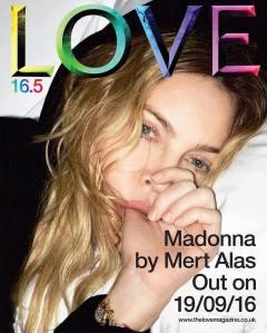 Madonna X Love Magazine Issue 16.5 Cover -2016.8.15-