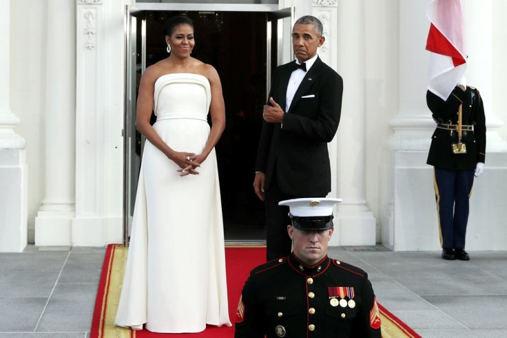 Michelle Obama in Brandon Maxwell