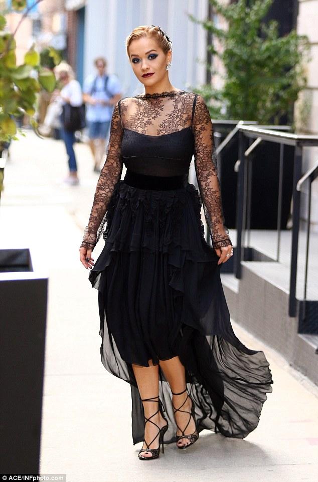 Rita Ora in Antonio Berardi Fall 2016