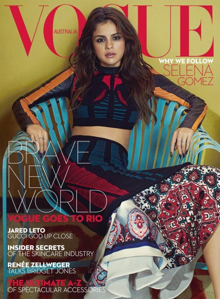 Selena Gomez Vogue Australia September 2016 Cover