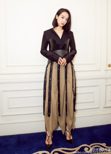 Victoria Song in Loewe Fall 2016