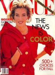 Vogue US September 1990 Cover Tatjana Patitz