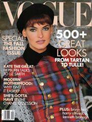 Vogue US September 1991 Cover Linda Evangelista